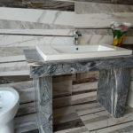 Mobilier baie din marmura, granit, onix sau travertin